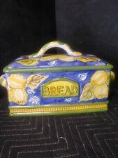 World Bazars Inc. Ceramic Bread Box In Excellent Condition.