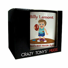 Personalised Rugby Gifts, Boys Rugby Mug, Crazy Tony's, Boys Rugby Gift Ideas