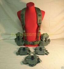 Us Military Army Medium Pistol Belt w Y Suspenders (5) Ammo Pouchs Lot Vgc