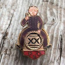 More details for page & overton p&o xx ales barrel breweriana figural vintage enamel lapel badge