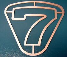 Lotus Seven Grille Emblem - Standard Model w/frame