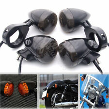 39mm Black Turn Signal LED Fog Light Relocation Fork Clamp For Harley Sportster
