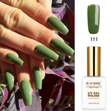RS Nail UV LED Gel Nail Polish Varnish Soak Off UV Gel Colour Green 111 15ml New