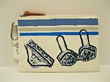 Style&co $29 NWT Cotton Water Resistant Pouch Cosmetic Bag Beach Pool Bikini