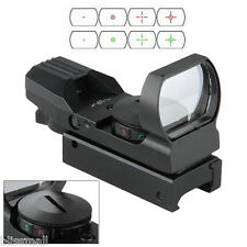 Wide View Red Dot Sight Reflex Green Scope For 20mm Rail Weaver Pistol Airsofts