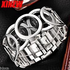 Fashion Women Bracelet Watch Crystal Stainless Steel Analog Quartz Wrist Watches
