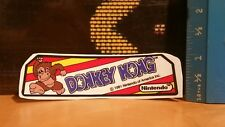 Coleco tabletop donkey kong dark marquee  decal.
