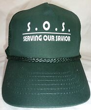 Christian Trucker Cap (Baseball) - Forest Green - Serving Our Savior (SOS)