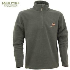 JACK PYKE GREEN ZIP NECK FLEECE SHOOTING JUMPER PULLOVER WITH PHEASANT MOTIF XL