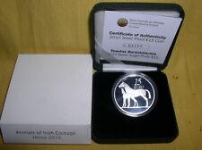 Irland 15 Euro Silber 2010 PP  Pferd