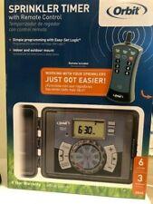 NEW Orbit Sprinkler Timer With Remote Control 6 Station 3 Program 6 Year Warrant