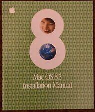Apple MacOS 8.5 Installation Manual