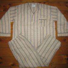 vintage Mens D 1960s-70s BVD mid century Collarless 50-50 Soft Pajamas NEW XL