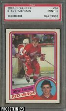 1984 O-Pee-Chee OPC Hockey #67 Steve Yzerman Red Wings RC Rookie HOF PSA 9 MINT