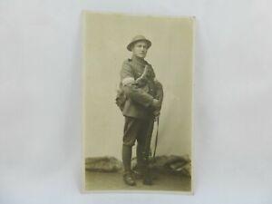 WW1 Postcard Photograph Royal Engineers Signaller