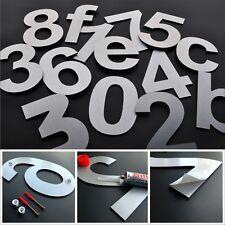 Hochwertige Hausnummer alle Zahlen Hausnummern 17cm Edelstahl Design Ziffern