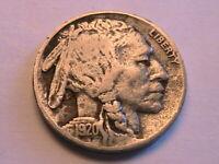 1920-S Buffalo Nickel Ch VF Very Fine Nice Original Indian Head 5 Cent US Coin