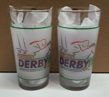 Lot of 2 1992 118th Kentucky Derby Mint Julep Beverage Glass