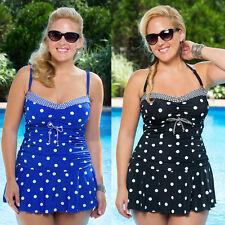 Polka Dot Plus Size Swimwear Women Bikini Two Piece Swim Skirt Swimdress Tankini
