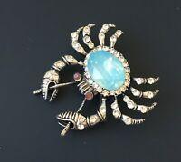 Unique crab pin brooch