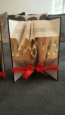 folded book art love with dog paw print cat paw print pet