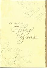 Happy 50 50th Golden Anniversary Ivory Roses Hallmark Greeting Card