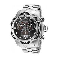 Invicta Venom Stainless Steel Band Black/Grey Dial Quartz Men's Watch 26134