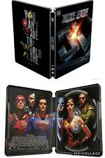 Justice League Empty Steelbook No Blu-ray, No 3D, No Digital Case Only (Import)