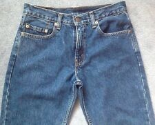LEVIS 553 DENIM JEANS SIZE W29 L33 STRAIGHT LEG ZIP FLY PRE-OWNED