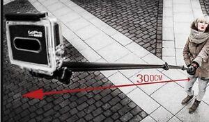 Selfie Stick Stange Teleskoparm SUPERBEE 3 Meter 300cm f. Gopro 6 5 4 3+ Kameras