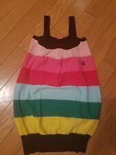 New Rykiel Enfant striped girls tank dress size 6 years rhinestones