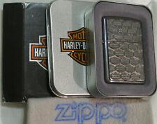 ZIPPO HARLEY DAVIDSON Lighter  H-D REPEAT BAR & SHIELD Emblem SEALED Multi Logos