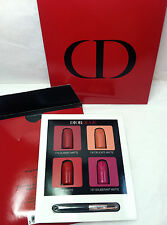 2 X NEW CHRISTIAN DIOR DIOROUGE THE NEW LIPSTICK SAMPLER 4 COLORS BRUSH DELUXE !