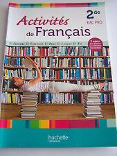 FRANCAIS 2 de BAC PRO  . ACTIVITES LECTURE . ECRITURE . ORAL . TRES BON ETAT .