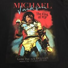 MICHAEL JACKSON IN MEMORY KING OF POP 1958-2009 TOUR MUSIC T SHIRT Large