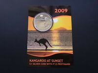Australia. 2009 1oz Silver - Kangaroo at Sunset. With F12 Privy..  SPECIMEN