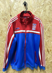 adidas Puerto Rico Vintage Track Jacket Red. Blue and White Size XXL AGC004