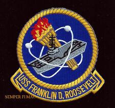 USS Franklin D Roosevelt CV CVA-42 PATCH AIRCRAFT CARRIER US NAVY PIN UP VETERAN