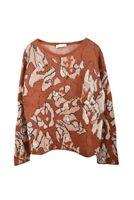 Stefanel Damen Everyday VL112D Pullover Entspannt Braun Größe M