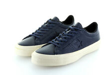 Converse Cons One Star Ox Obsidian Blue Parchment Leather Gr. 42,5 / 43,5 US 9