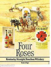 PUBLICITE ADVERTISING 055  1983  FOUR ROSES  bourbon  whisky du KENTUKY