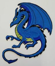 """Blue Dragon, Mythical, Fantasy, Embroidered Patch Approx Size 7.""""x 5"""""""