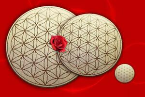 Untersetzer Blume des Lebens, Set je 1 Platte im Set  energetisiert