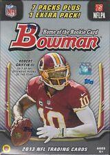 2013 Bowman Football sealed blaster box 7 + 1 packs of 7 NFL cards