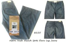 DENIM & SUPPLY LAUREN $165 NEW Alston Wash Bleach-Spots Flare Jeans 26 L34 QCO