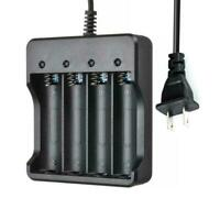 4X 18650Li-ion Battery 6800mAh 3.7 V Rechargeable Battery Charger UK Slot V7W1