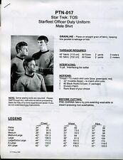 Classic Star Trek: TOS Starfleet Male Shirt Pattern: Childs-XXL  [PTN-017]