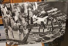 ANONYME FLYING OVER NEW YORK HUGE BLACK AND WHITE POSTER