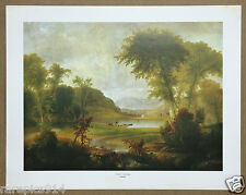 Daughty Catskill Landscape Vintage Original Lithograph Printed in 1960s