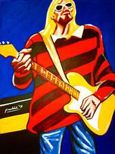 KURT COBAIN PRINT poster grunge nirvana fender guitar nevermind amp in utero cd